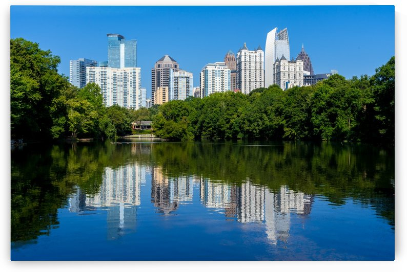 Lake Clara Meer and Midtown Skyline   Atlanta GA 4710 by @ThePhotourist