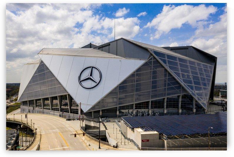 Mercedes Benz Stadium Aerial View   Atlanta GA 0209 by @ThePhotourist