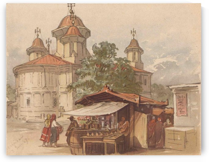 Church in Bucharest by Amadeo Preziosi