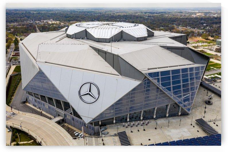 Mercedes Benz Stadium Aerial View   Atlanta GA 0208 by @ThePhotourist