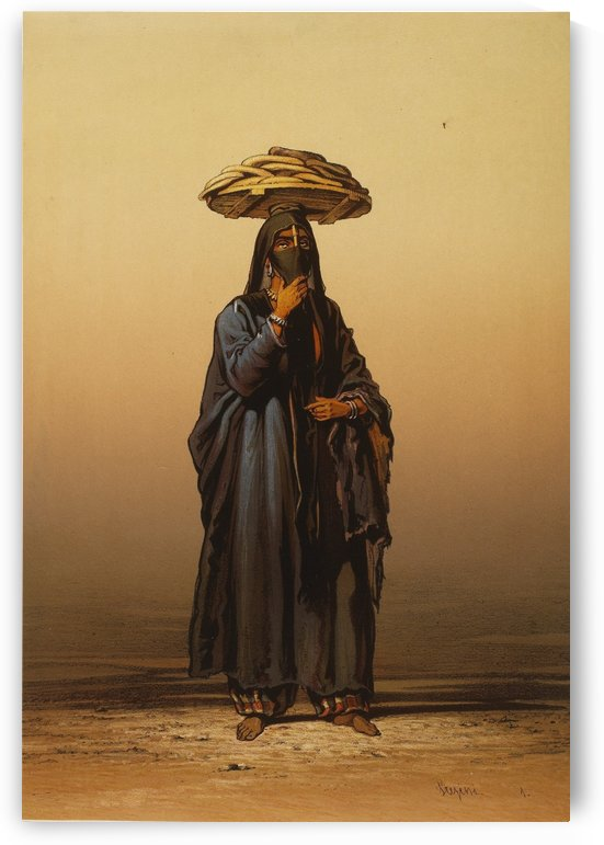 Bread seller by Amadeo Preziosi