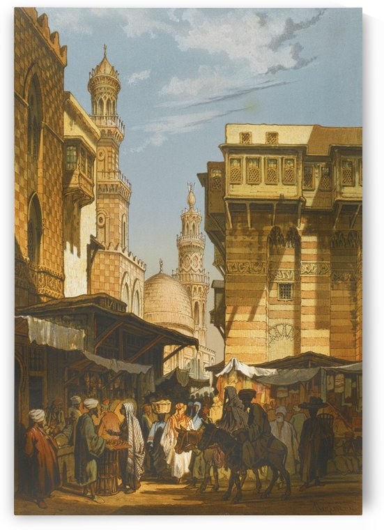 Market in Istanbul by Amadeo Preziosi