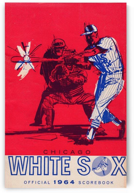 1964 Chicago White Sox Scorecard Reproduction Baseball Art Print by Row One Brand