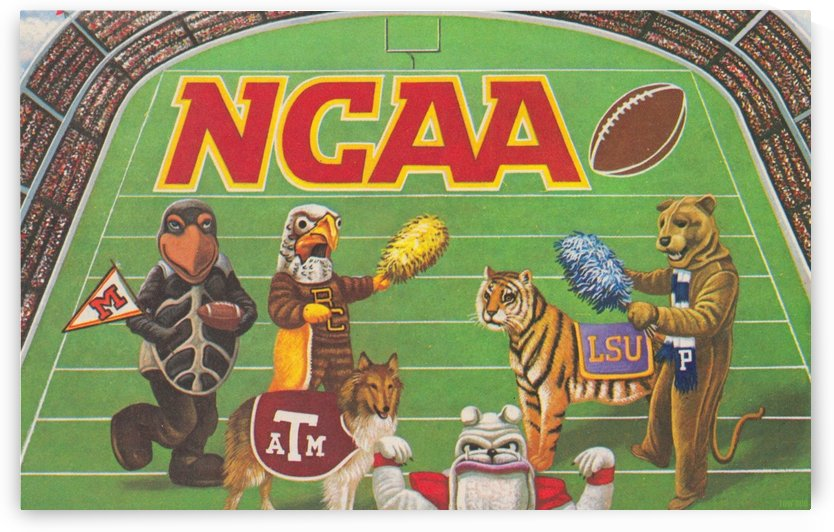 1984 NCAA Football Ad Reproduction_Vintage Sports Ads_Retro Sports Advertisement by Row One Brand