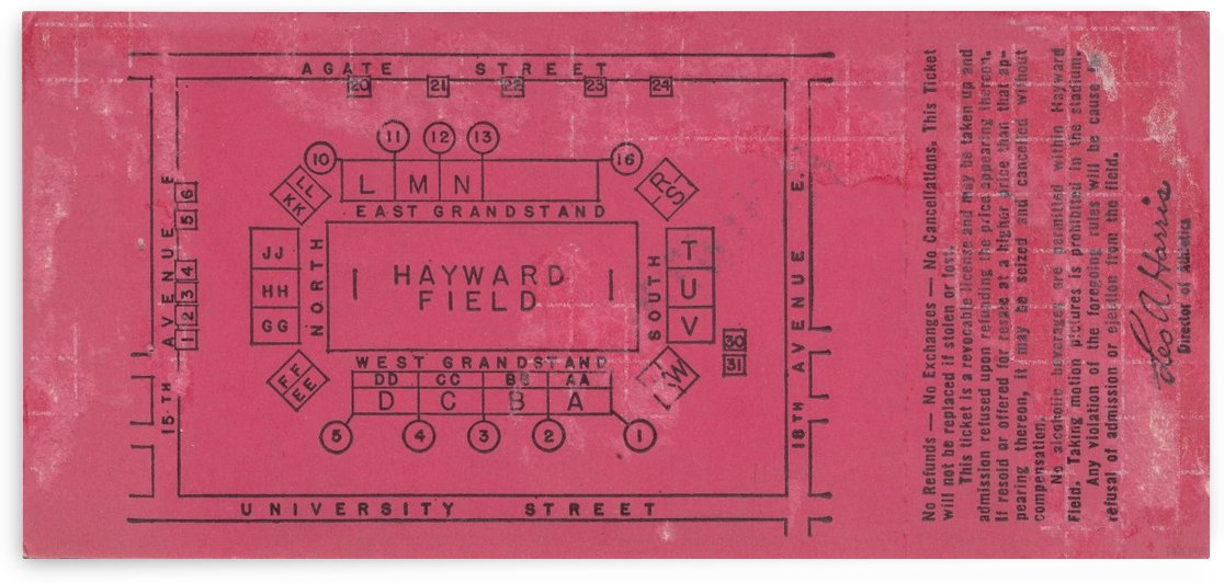 Hayward Stadium Map Agate Street_Oregon Duck Football Stadium Map_Vintage College Stadium Map Art by Row One Brand