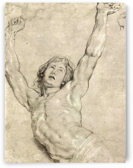 Figure Study of Christ by Rubens by Rubens
