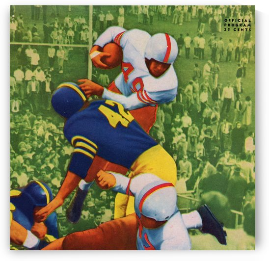 Vintage College Football Program Cover Art Print by Row One Brand