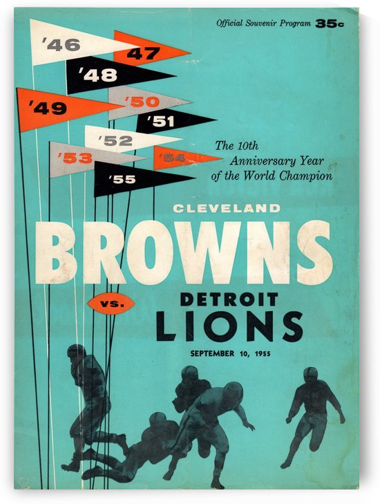 1955_National Football League_Cleveland Browns vs. Detroit Lions_Program by Row One Brand