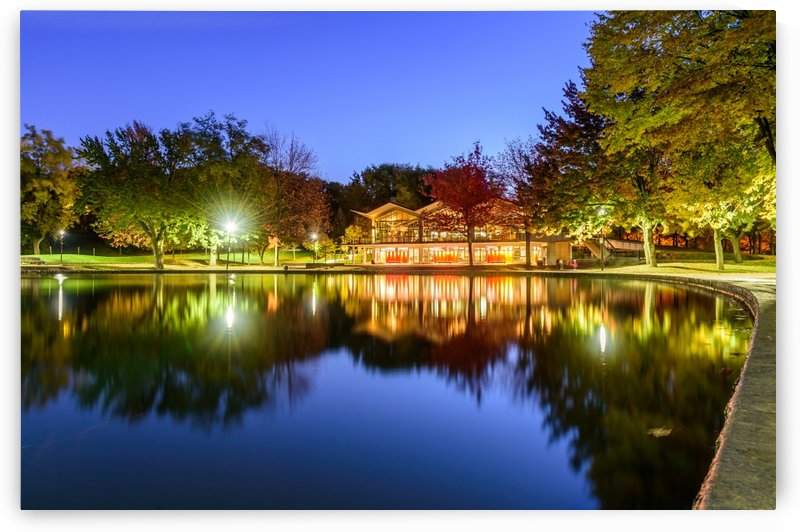 Blue hour at Beaver lake by RezieMart