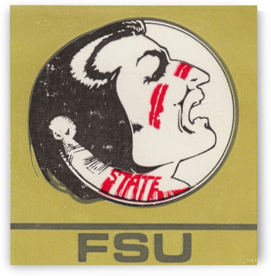 Vintage FSU Florida State University Seminoles Art_Ticket Stub Art Reproduction Print by Row One Brand