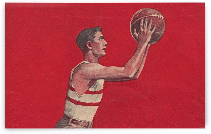 Vintage Basketball Art Poster (1921) by Row One Brand