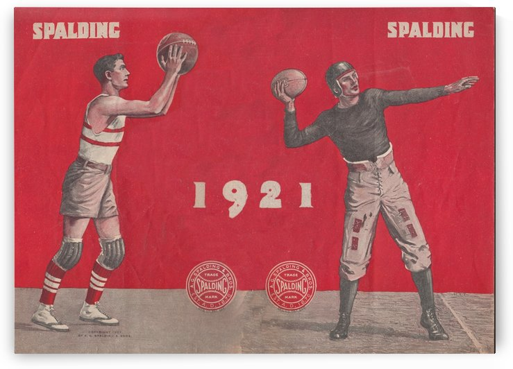 1921 Spalding  Ad by Row One Brand
