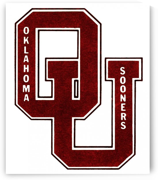 1960 OU Oklahoma Sooners art by Row One Brand