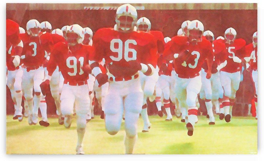 Nebraska Cornhuskers Fine Art Wall Decor_Nebraska Football by Row One Brand