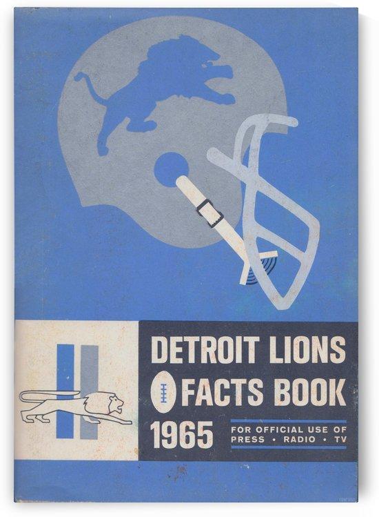 1965 Detroit Lions Fact Book_Vintage NFL Art Reproduction_Detroit Lions Wall Art Home Decor Print by Row One Brand