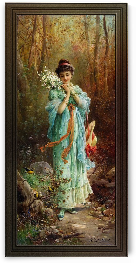 Walk Through The Forest by Hans Zatzka by xzendor7