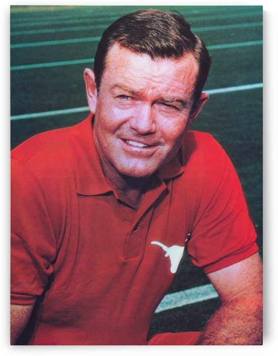 Darrell Royal Head Coach University Texas Longhorns Football Photo by Row One Brand