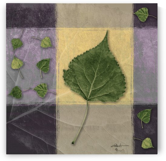 Leaves on Custard & Mauve 1x1 by Veratis Editions