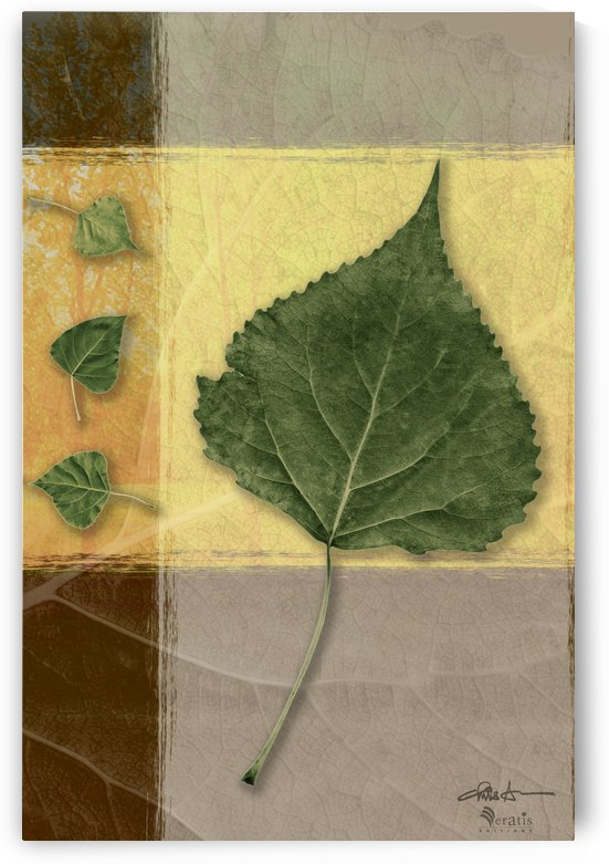 Leaves on Mustard & Caramel 2x3 by Veratis Editions