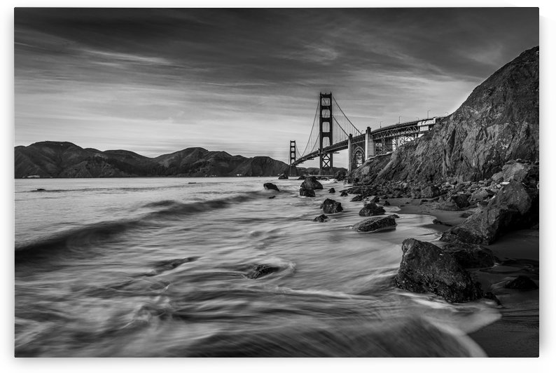 B&W Golden Gate Sunset by Sebastian Dietl