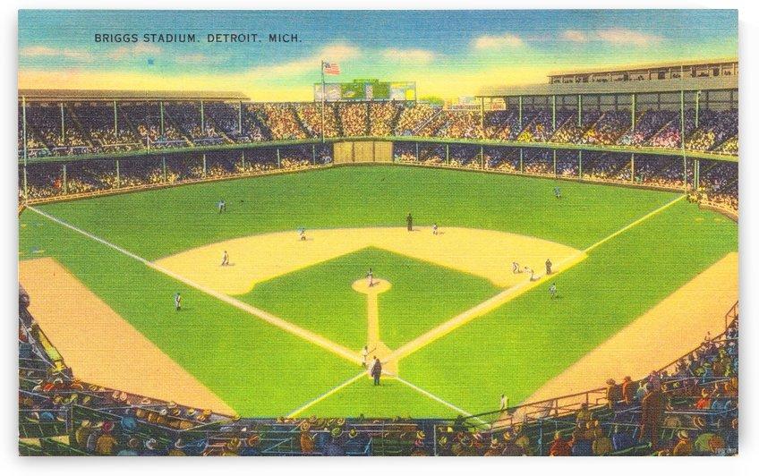 Vintage Briggs Stadium Art Detroit Tigers Wall Art_Vintage Stadium Art by Row One Brand
