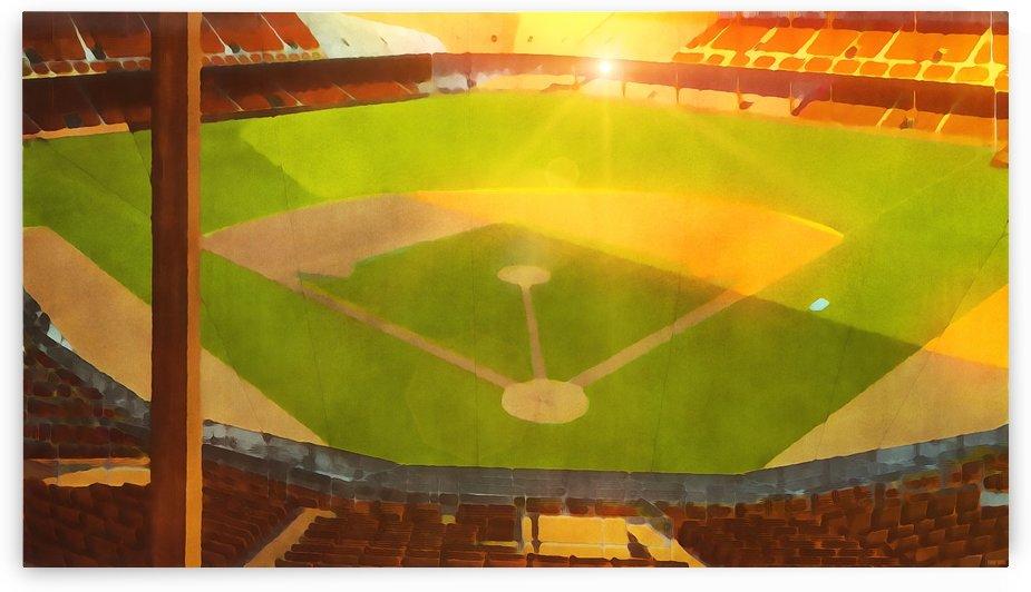 Empty Stadium_Vintage Baseball Ballpark Art_Uplifting Art Piece by Row One Brand
