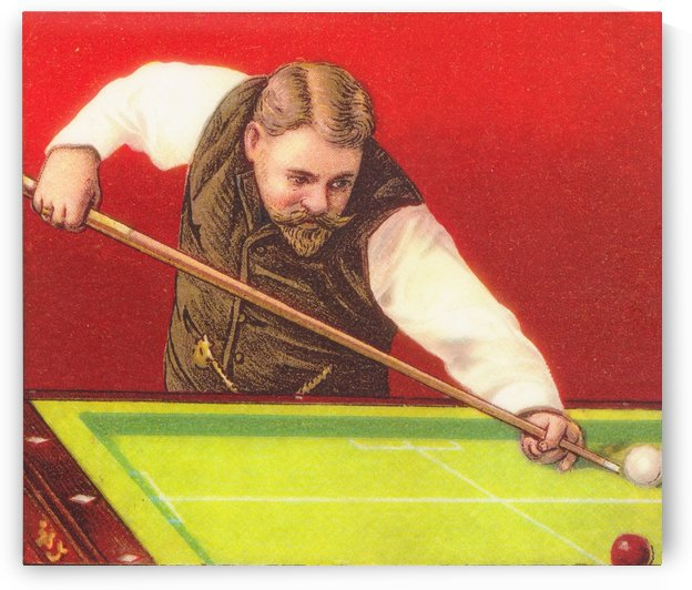 1910 Billiards Art by Row One Brand