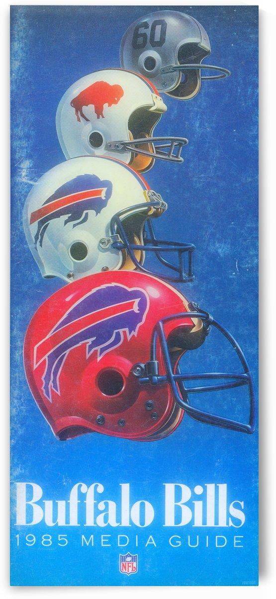 1985_NFL_Buffalo Bills Helmet Art_Bills Media Guide Art Reproduction by Row One Brand