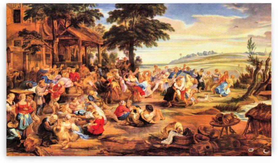 Flemish Kirmes by Rubens by Rubens