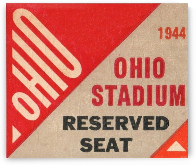 Ohio Stadium Reserved Seat OSU Buckeyes Ticket Stub Art Poster by Row One Brand
