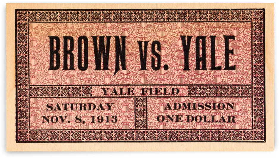 1913 Brown vs. Yale by Row One Brand