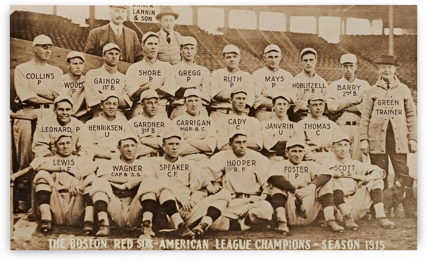 1915 Boston Red Sox Team Photo by Row One Brand