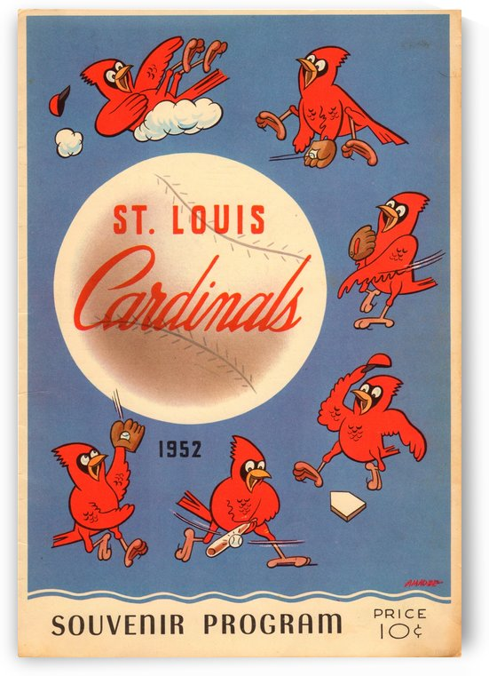 1952 Cardinals Program Cover by Row One Brand