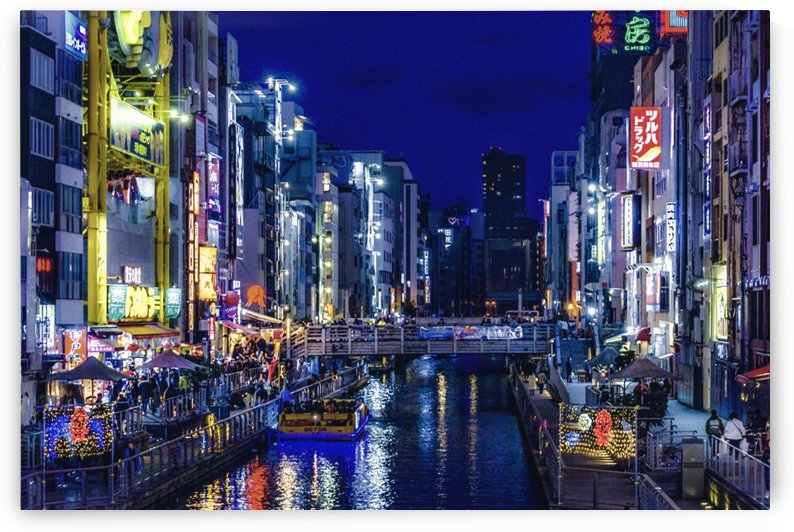 Dotonbori Night Scene   Osaka, Japan by Daniel Ferreia Leites Ciccarino