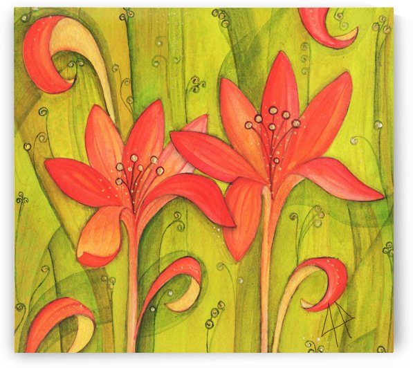 Orange lily´s by CLAUDIA BRANDES
