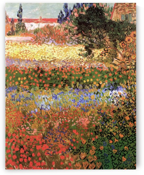 Flowering Garden by Van Gogh by Van Gogh