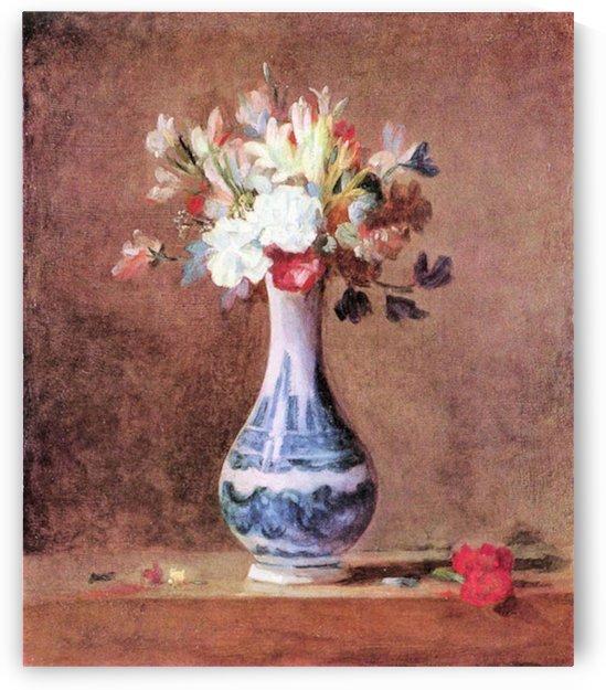 Flowers in a Vase by Jean Chardin by Jean Chardin