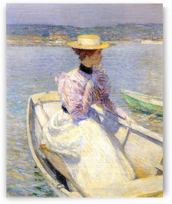 White Dory, Gloucester by Hassam by Hassam