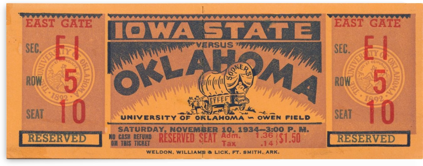 1934 Iowa State vs. Oklahoma by Row One Brand