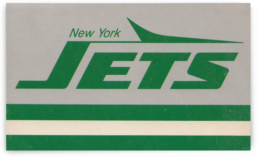 Retro New York Jets Art Reproduction 1984 by Row One Brand