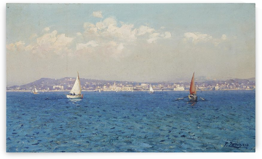 Franzasische Riviera by Fausto Zonaro