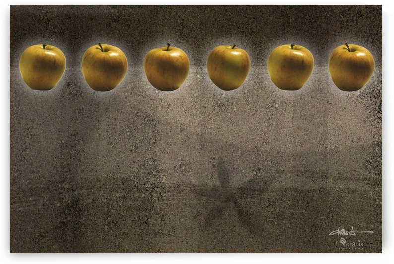 Amber Apples in a Row 3x2 by Veratis Editions