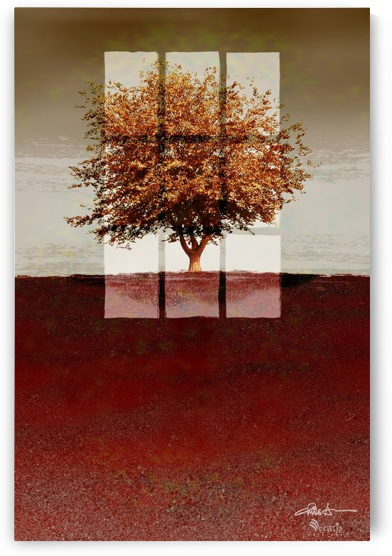 Window on a Sienna Tree 2x3 by Veratis Editions