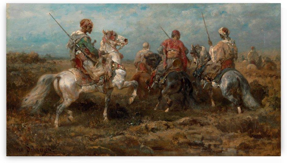 Arabische Reiter by Adolf Schreyer
