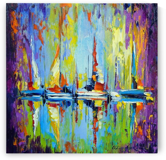 Boats at the pier by Olha Darchuk