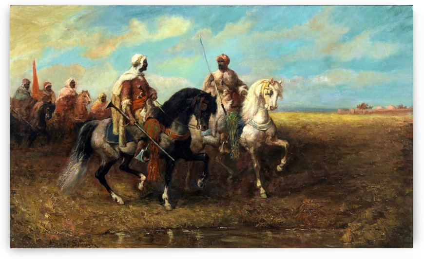 Arab Horsemen by Adolf Schreyer