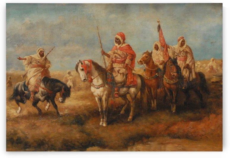 Bedouins on Horseback by Adolf Schreyer