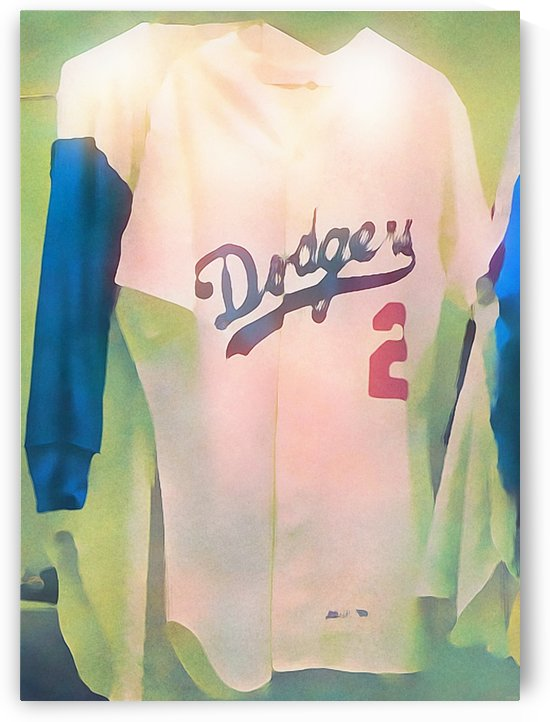 Vintage Dodgers Jersey_LA Dodgers Baseball Jersey Art Print (1) by Row One Brand