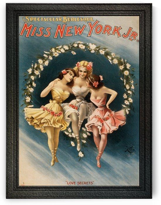 Miss New York Jr. Spectacular Burlesque Love Secrets Vintage Poster by xzendor7