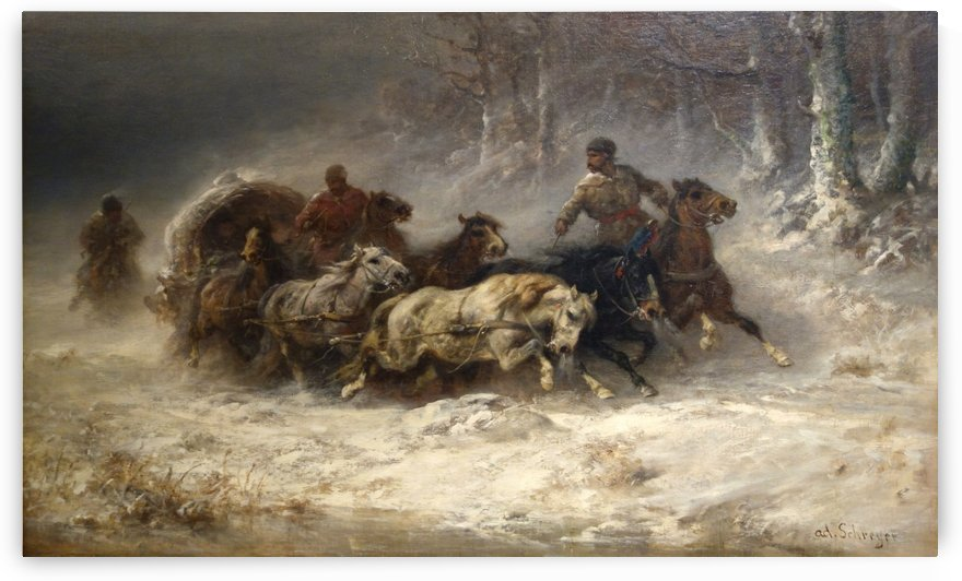 Escape from Moscow by Adolf Schreyer